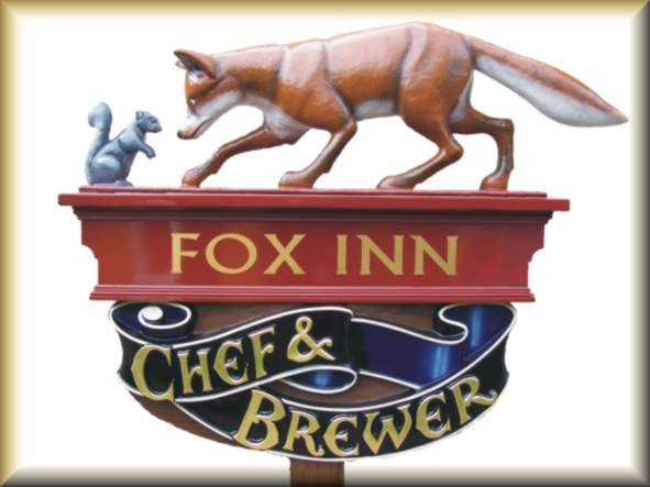 Post top pub sign - GRP with gilded lettering
