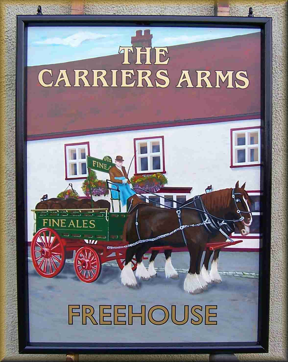 Pub Sign - on aluminium with powder coated aluminium frame