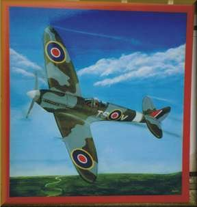 The Spitfire - oil on aluminium